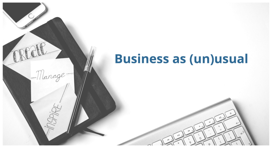 Newsletter 1: Business as (un)usual