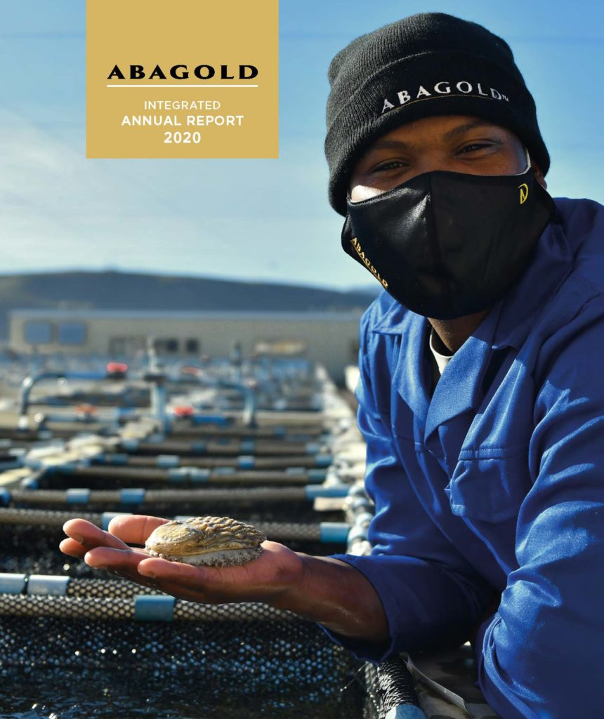 Front cover image of ABAGOLD Integrated Annual Report 2020