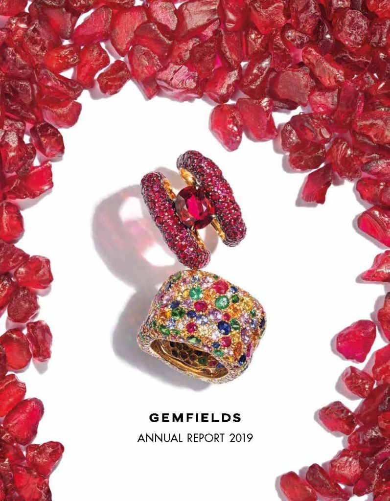 GEMFIELDS Annual Report 2019 Cover