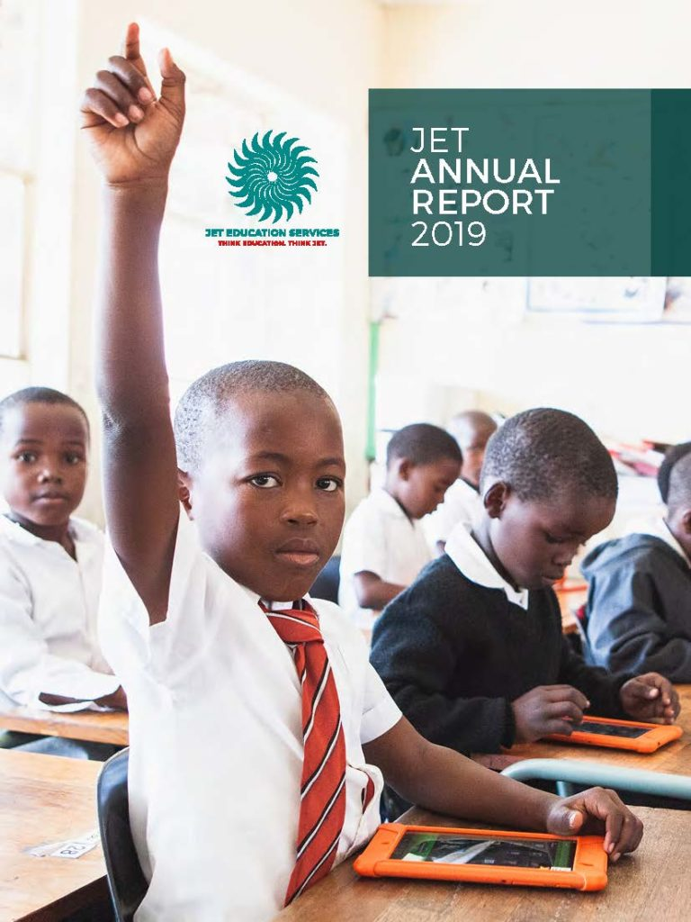 Front cover of the JET Annual Report 2019
