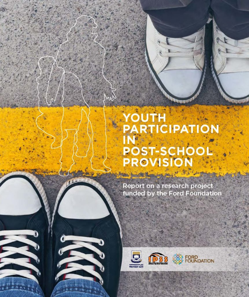 Example of cover elements coming together – IPSS front cover – Youth participation in Post-school provision – Report on a research project