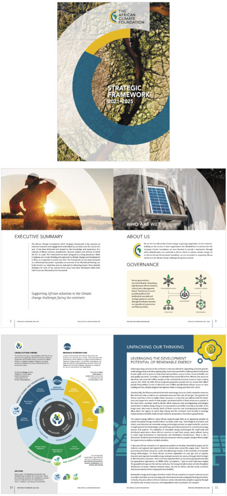 The African Climate Foundation: Strategic Framework 2021-2025 Book cover